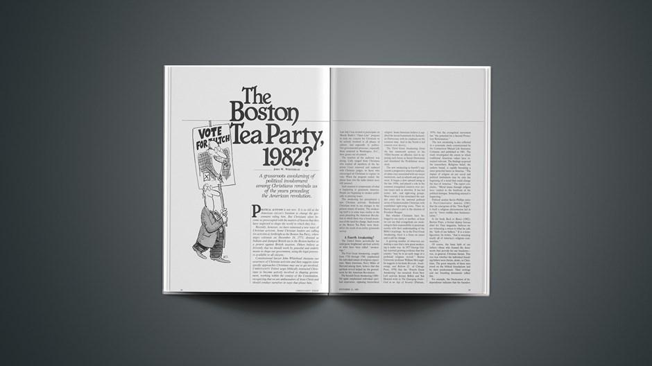 The Boston Tea Party, 1982?