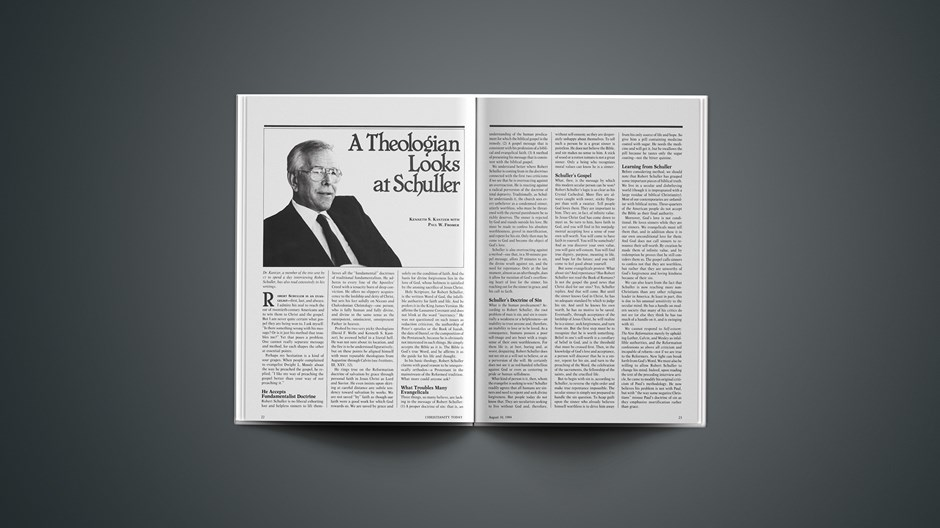 A Theologian Looks at Schuller