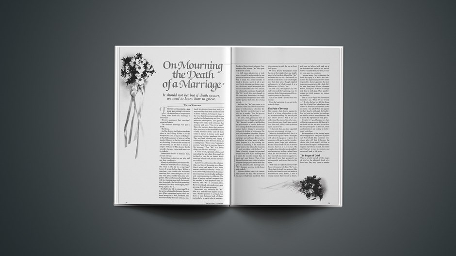On Mourning the Death of a Marriage: It Should Not Be; but If Death Occurs, We Need to Know How to Grieve