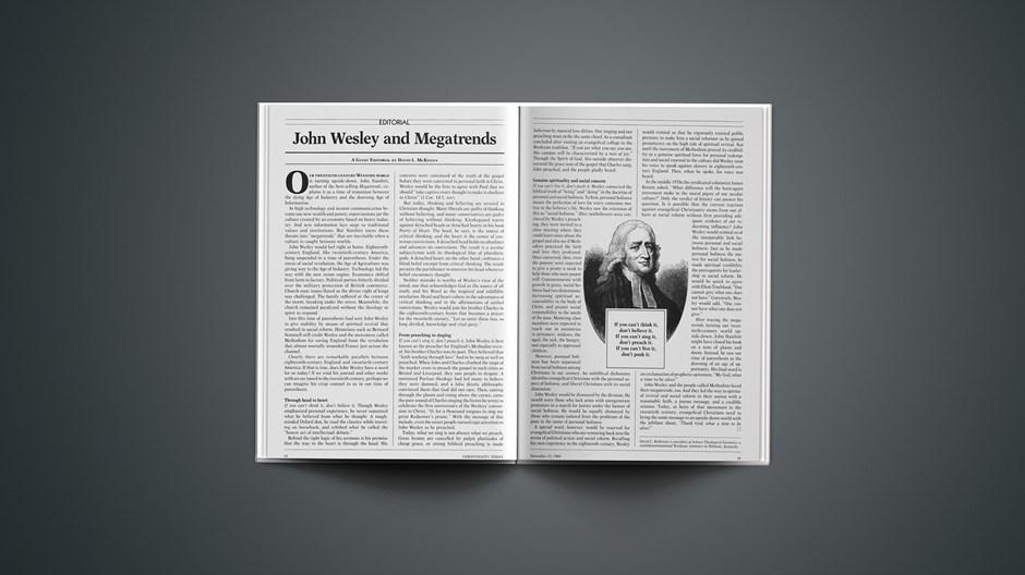 John Wesley and Megatrends