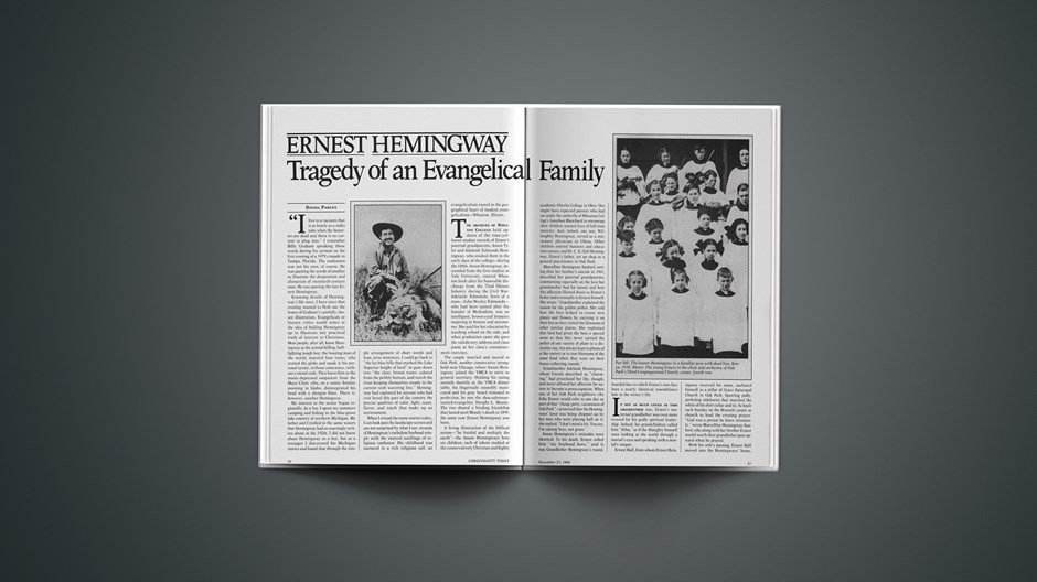Ernest Hemingway: Tragedy of an Evangelical Family