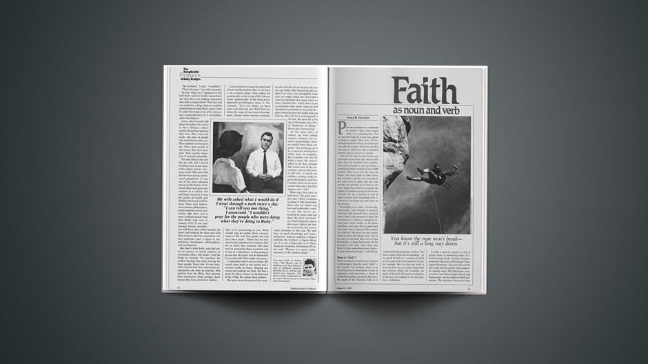 Faith as Noun and Verb