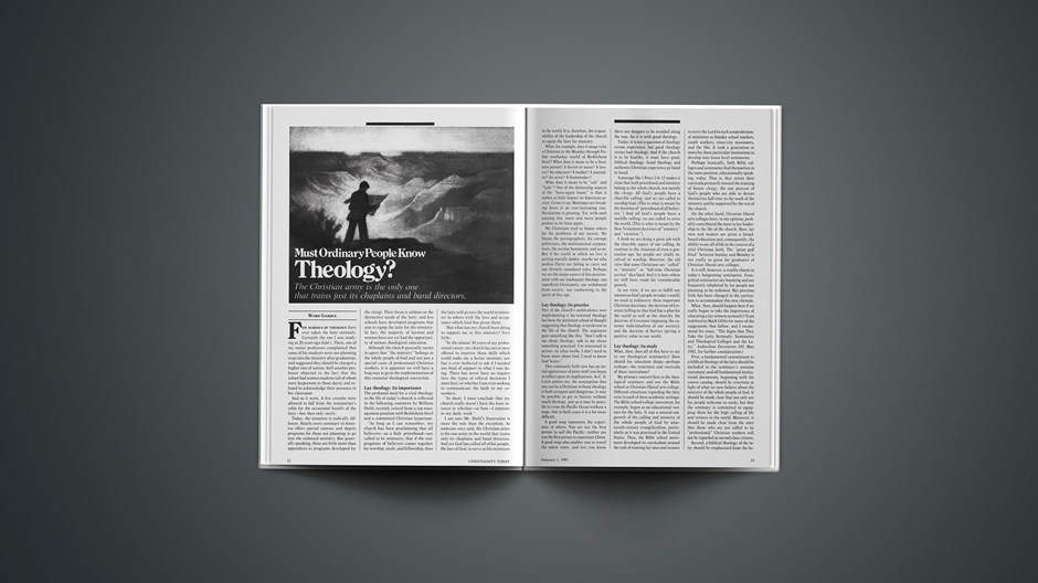 Must Ordinary People Know Theology?