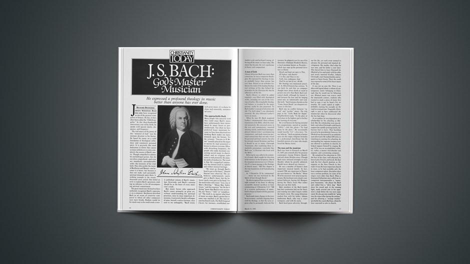J. S. Bach: God's Master Musician