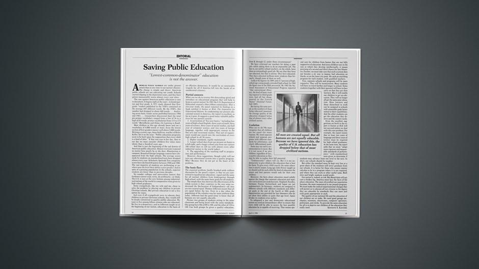 Saving Public Education