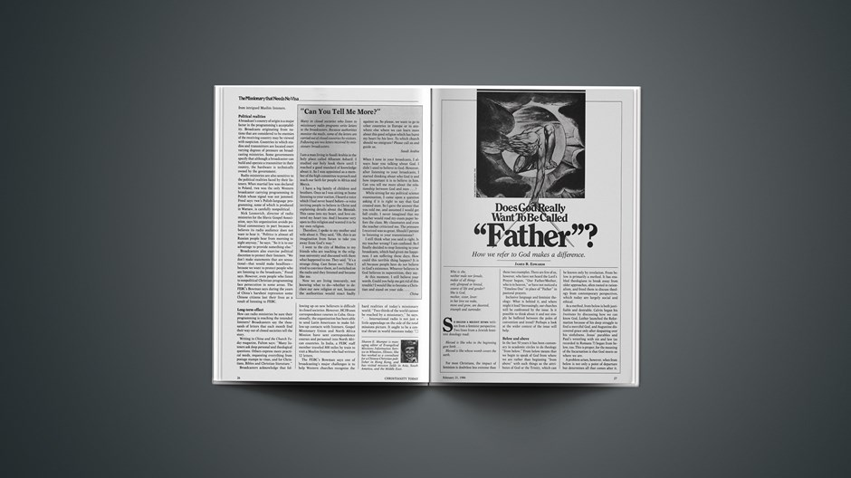 "Does God Really Want to Be Called ""Father""?"