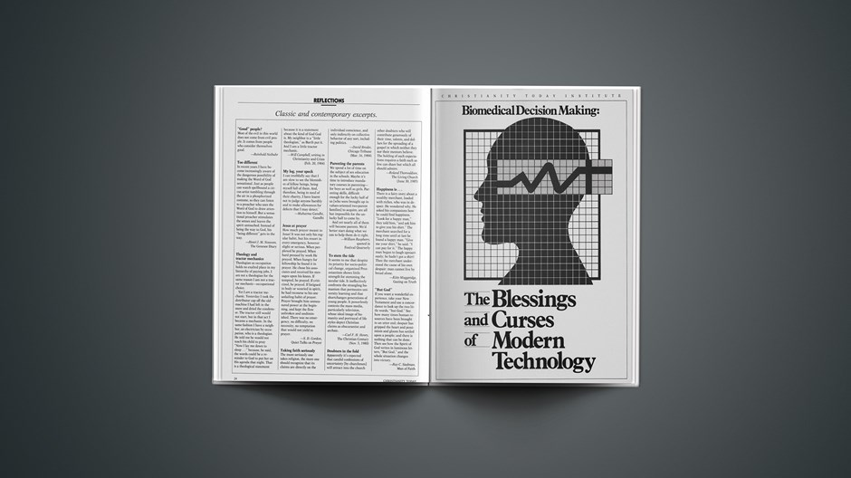 Biomedical Decision Making: The Blessings and Curses of Modern Technology