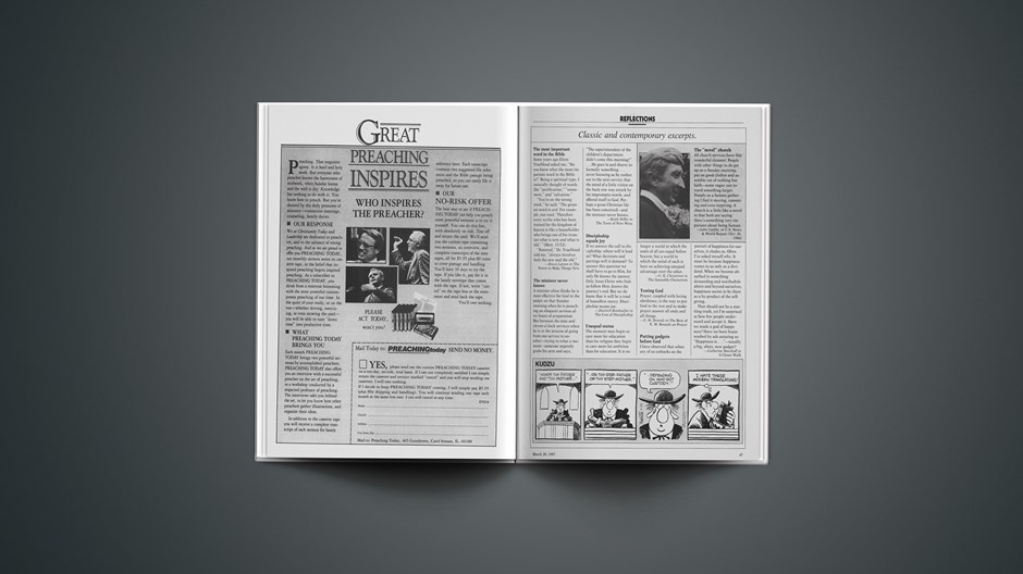 Classic & Contemporary Excerpts from March 20, 1987