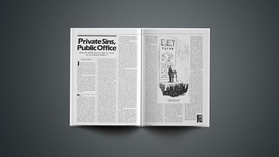 Private Sins, Public Office