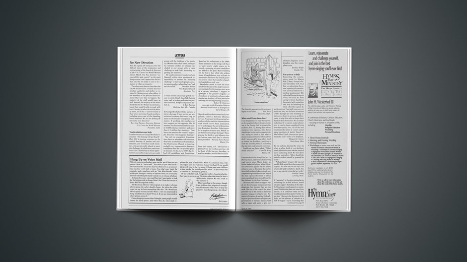 Letters/Eutychus: April 29, 1991