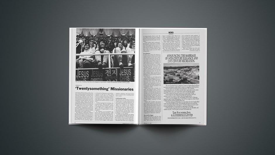 Urbana 90: 'Twentysomething' Missionaries