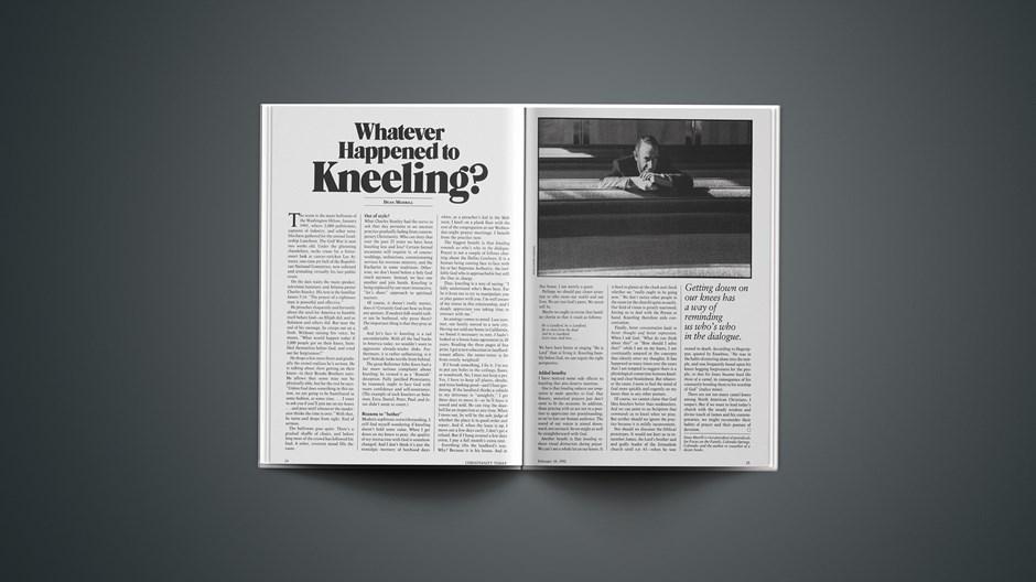 Whatever Happened to Kneeling?