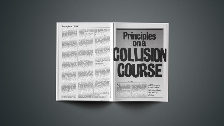 Principles on a Collision Course