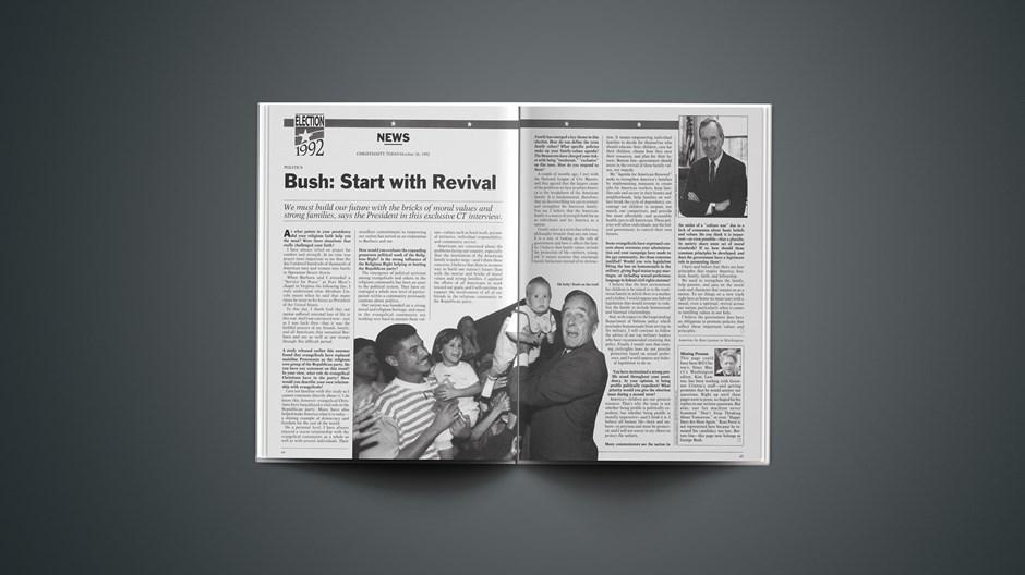 Bush: Start with Revival