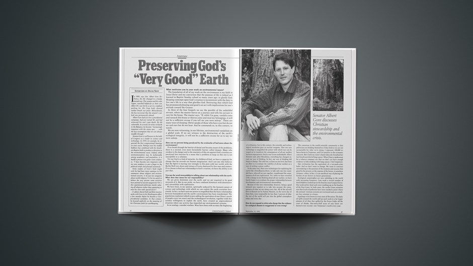 """Preserving God's """"Very Good"""" Earth"""