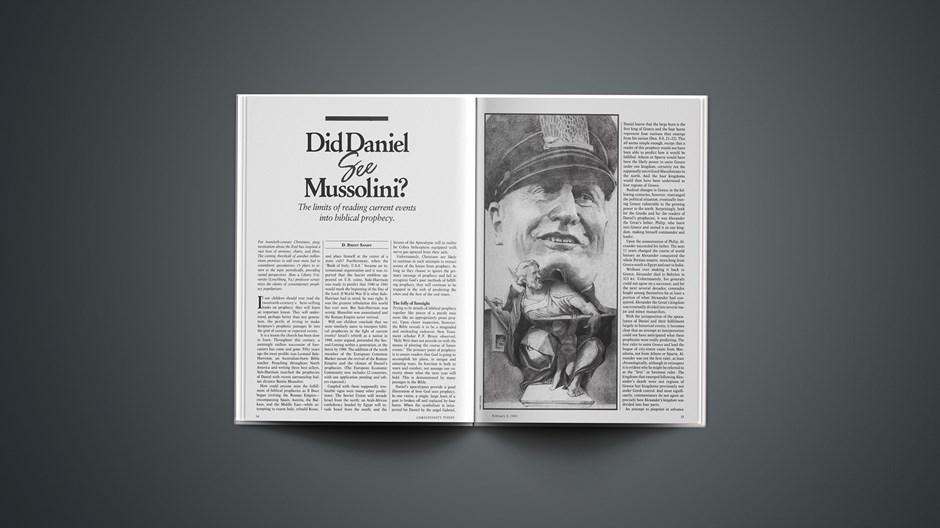 Did Daniel See Mussolini?