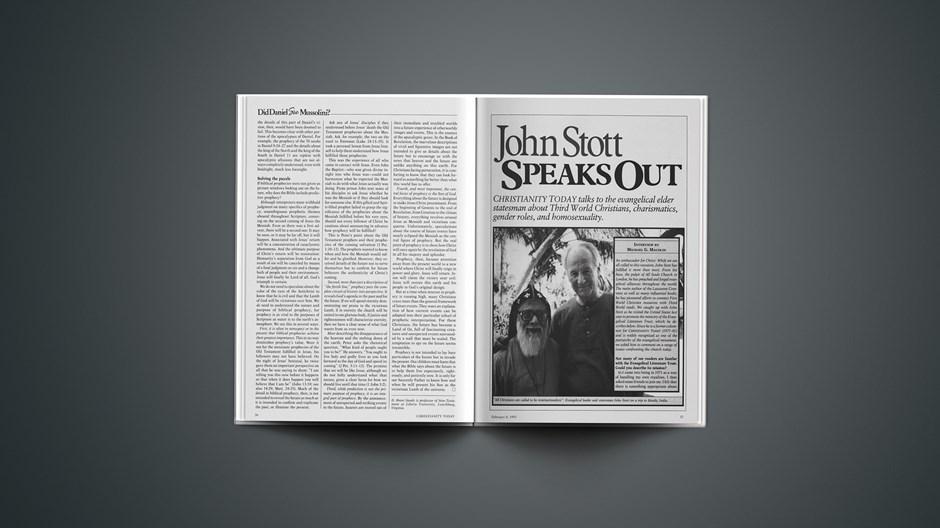 John Stott Speaks Out