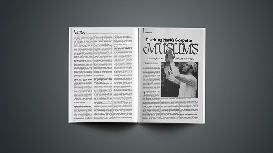 Teaching Mark's Gospel to Muslims