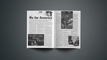 Health Care: Rx for America