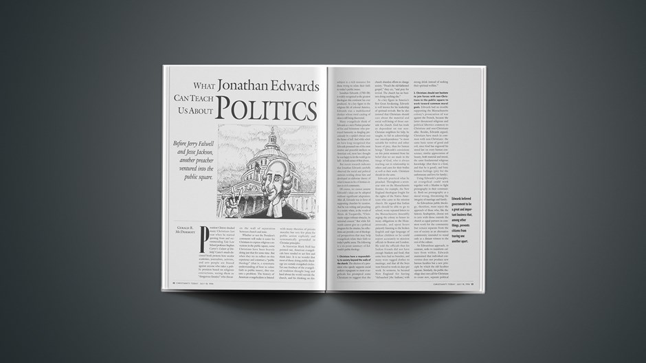 What Jonathan Edwards Can Teach Us About Politics