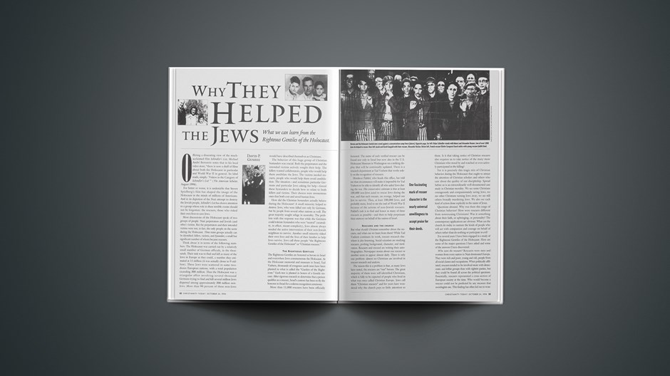 ARTICLE: Why They Helped the Jews
