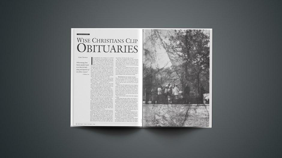 ARTICLE: Wise Christians Clip Obituaries