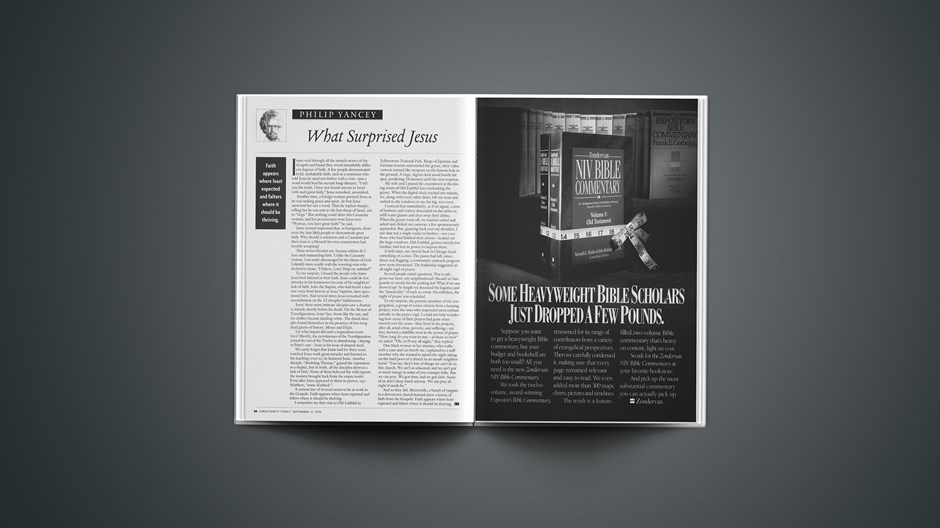 PHILIP YANCEY: What Surprised Jesus