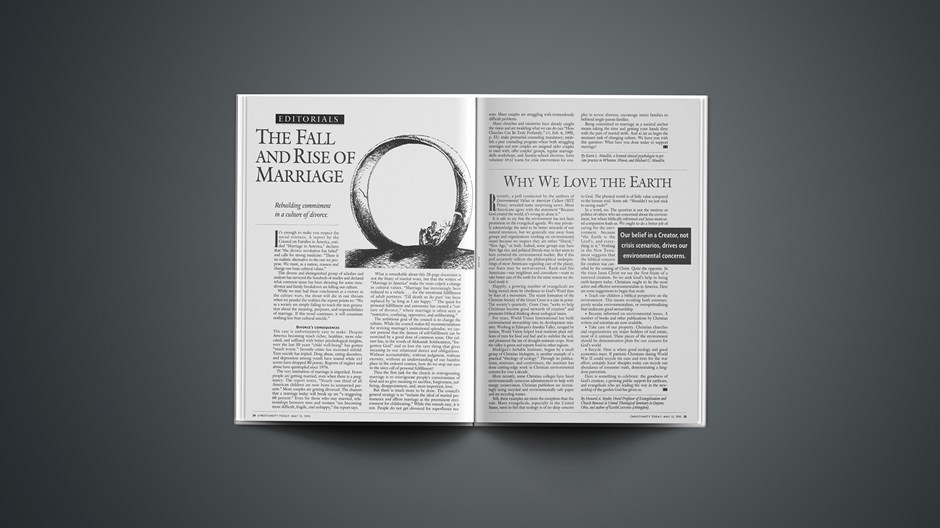 EDITORIAL: The Fall and Rise of Marriage