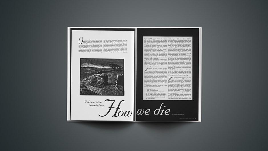 ARTICLE: How We Die