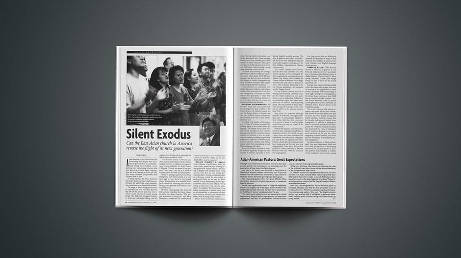 SIDEBAR: Asian-American Pastors: Great Expectations