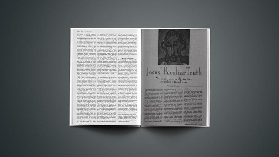 ARTICLE: Jesus' Peculiar Truth