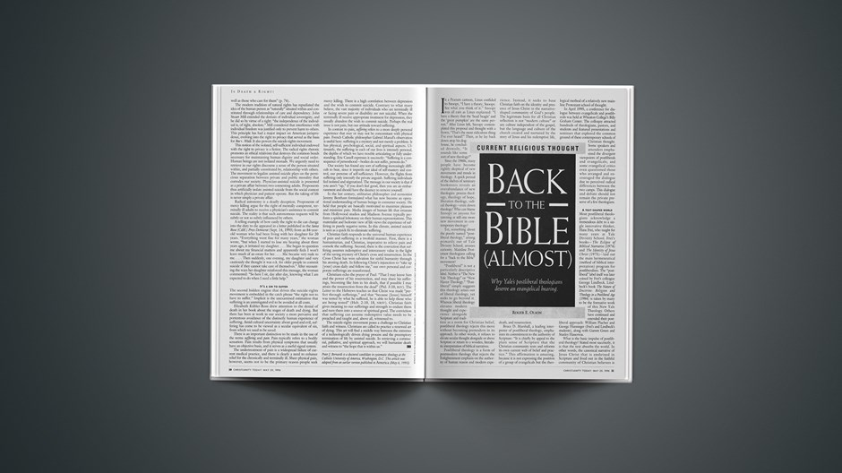 ARTICLE: Back to the Bible (Almost)