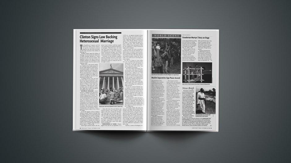 News Briefs: October 28, 1996