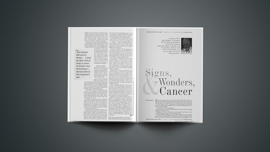 Signs, Wonders, and Cancer