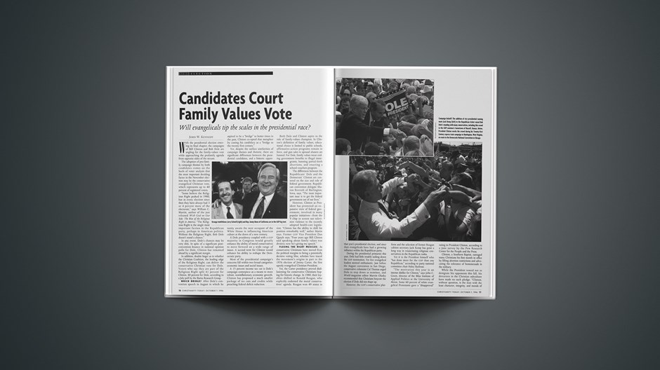 Candidates Court Family Values Vote
