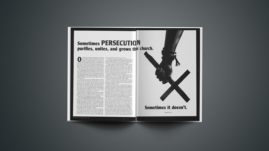 Is Persecution Good for the Church?