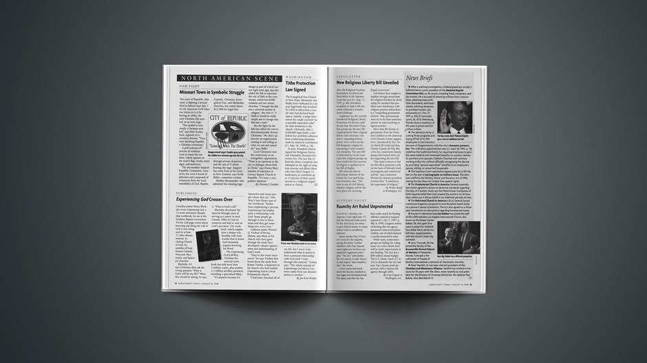News Briefs: August 10, 1998