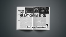 What Part of the Great Commission Don't You Understand?