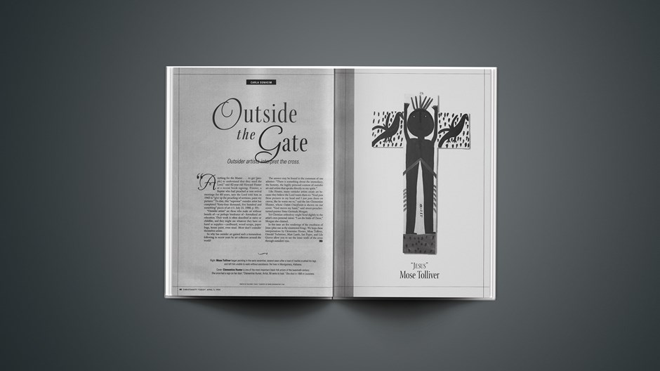 Outside the Gate Outsider artists interpret the cross.