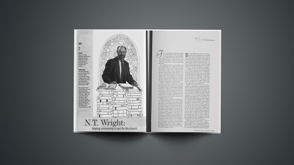 N.T. Wright: Making Scholarship a Tool for the Church