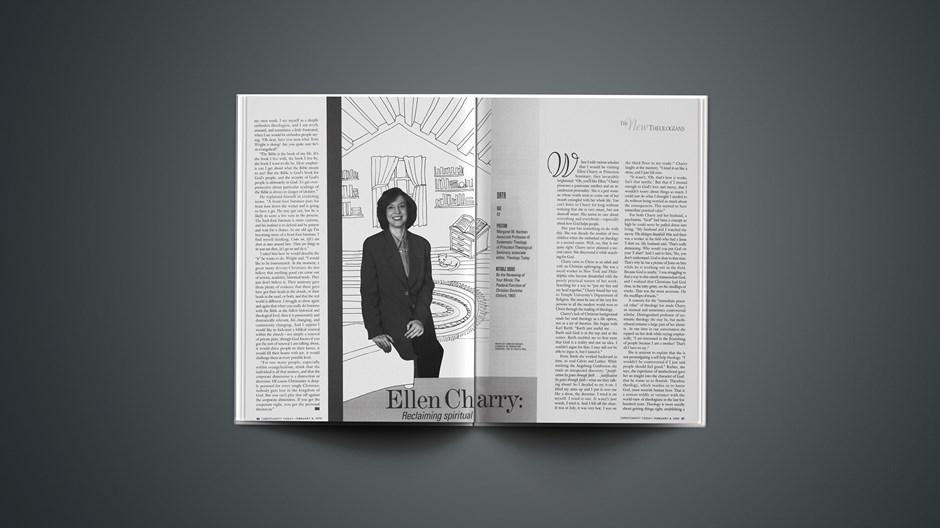 Ellen Charry: Reclaiming spiritual nurture.