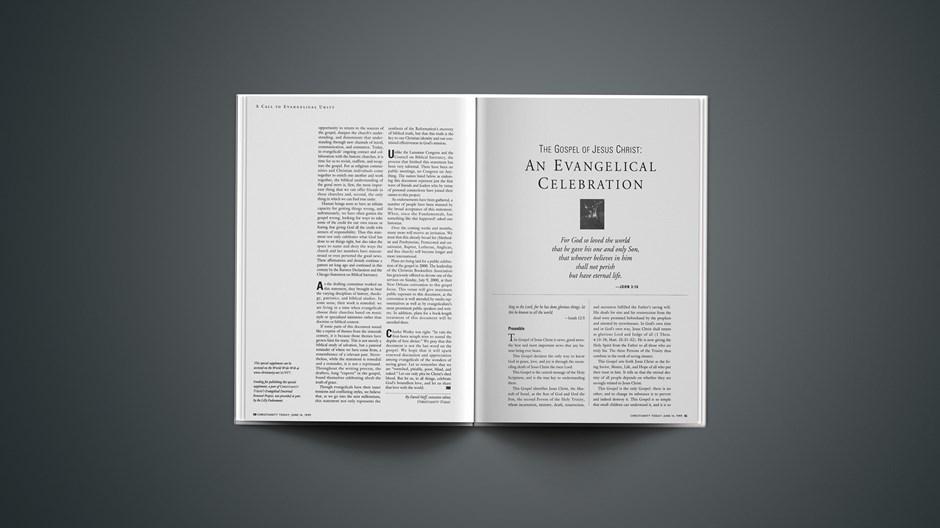 The Gospel of Jesus Christ: An Evangelical Celebration