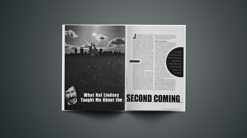 What Hal Lindsey Taught Me About the Second Coming