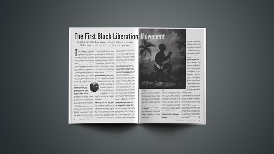 The First Black Liberation Movement