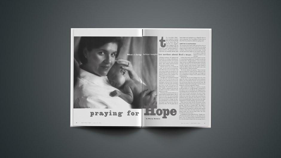 Praying for Hope