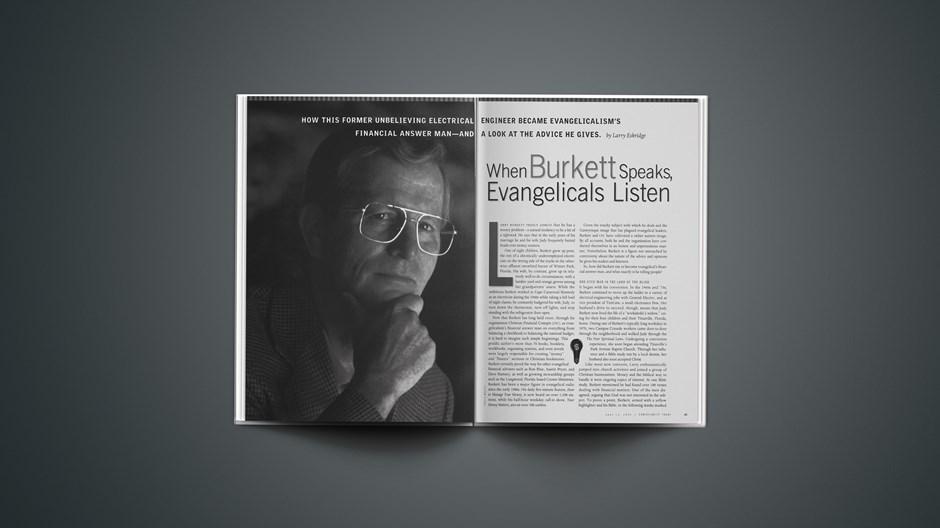 When Burkett Speaks, Evangelicals Listen