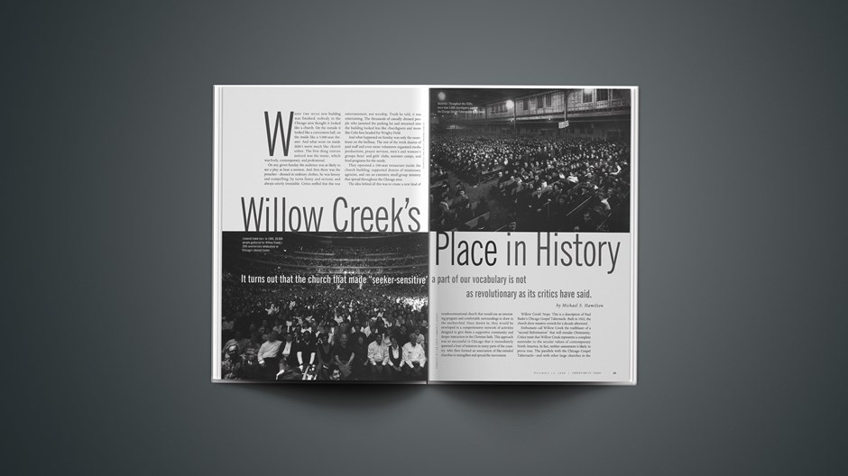 Willow Creek's Place in History