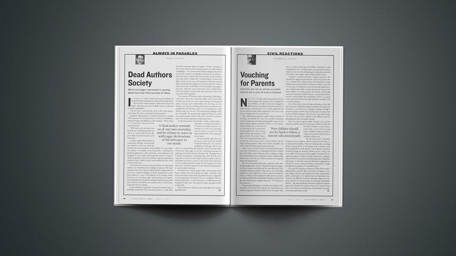 Civil Reactions | Stephen L. Carter: Vouching for Parents
