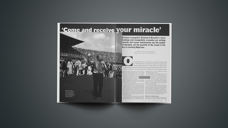 'Come and Receive Your Miracle'