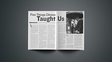 Five Things Clinton Taught Us